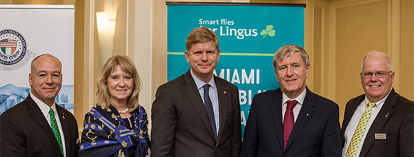 Irish Ambassador Presents Keynote Remarks at South Florida Irish Chamber Breakfast