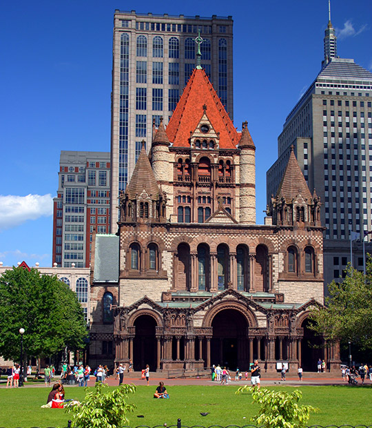 Copley Square and Trinity Church, Boston