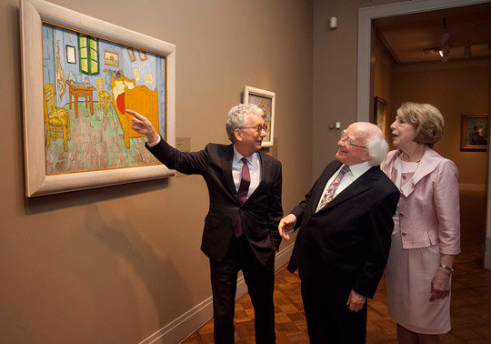 President Higgins and his wife Sabina visit the Chicago Art Institute and Millennium Park.
