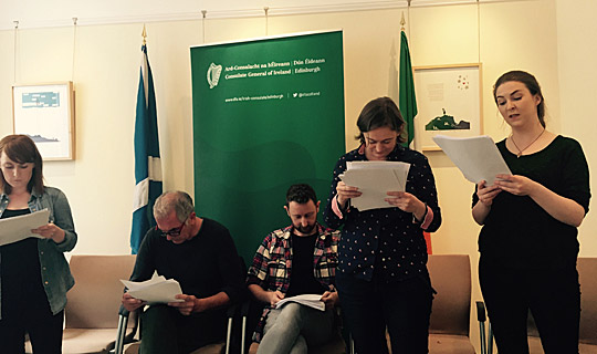 Acclaimed Irish and Scottish actors read Citizens Rehearse