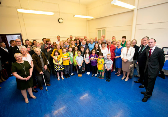 President and Sabina Higgins meet with members of the Irish community in Govanhill