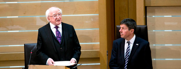 Visit of President of Ireland Michael D. Higgins to Scotland