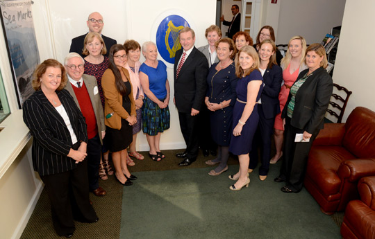 The staff at the Consulate General of Ireland, New York