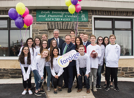 Minister Cannon launching Fóroige