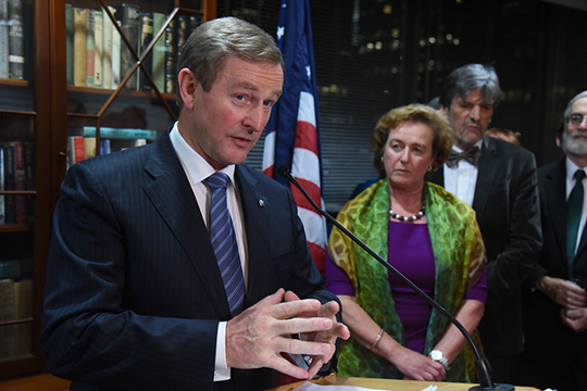 Remarks by An Taoiseach Enda Kenny T.D. at a Reception for Irish-American political, business and community leadership Irish Consulate, New York Friday 2 December