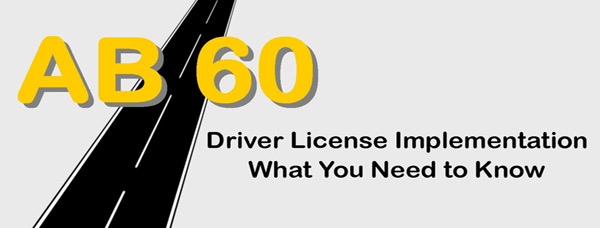 AB60 California Driving License banner