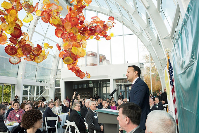 Taoiseach addressing the Irish Community at Seattle's Chihuly Gardens