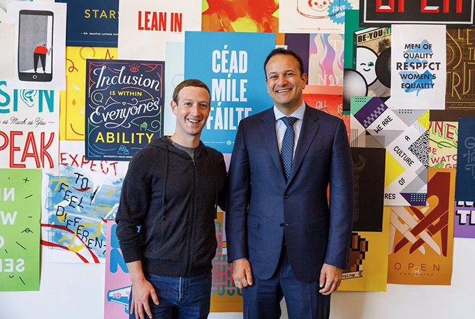 Taoiseach with Facebook CEO Mark Zuckerberg
