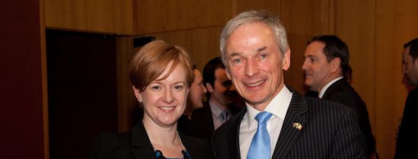 Minister Bruton with Consul General Jane Connolly