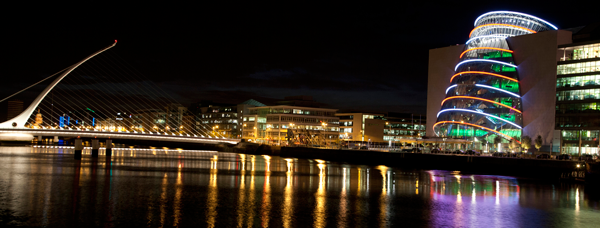 Samuel Beckett Bridge and Convention Centre. Failte Ireland copyright - Derek Cullen