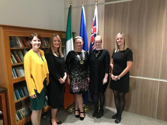 The President of South Dublin Chamber of Commerce with the Consul General and the Directors of the State Agencies courtesy of South Dublin Chamber of Commerce