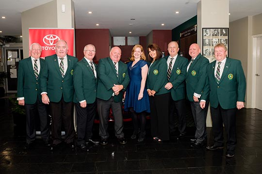 The Consul General with the Penrith Gaels Committee. Courtesy of Penrith Gaels