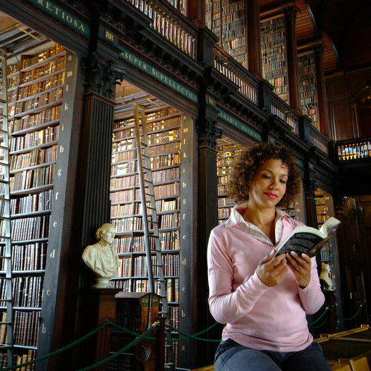 The main chamber of the Old Library is the Long Room, and at nearly 65 metres in length, it is filled with 200,000 of the Library's oldest books © Tourism Ireland