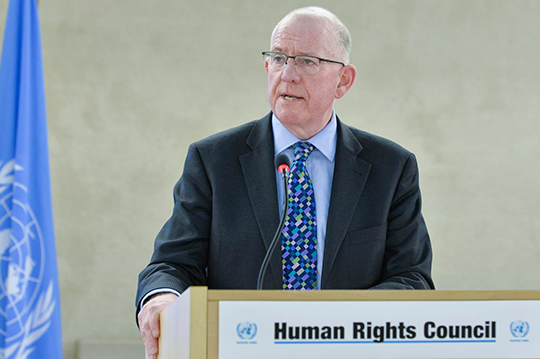 Minister Flanagan addressing the Human Rights Council, March 2015