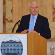 John Major delivers lecture at Iveagh House