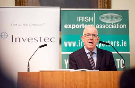 "Minister Flanagan at launch of ""Top 250 Exporters"" Report"