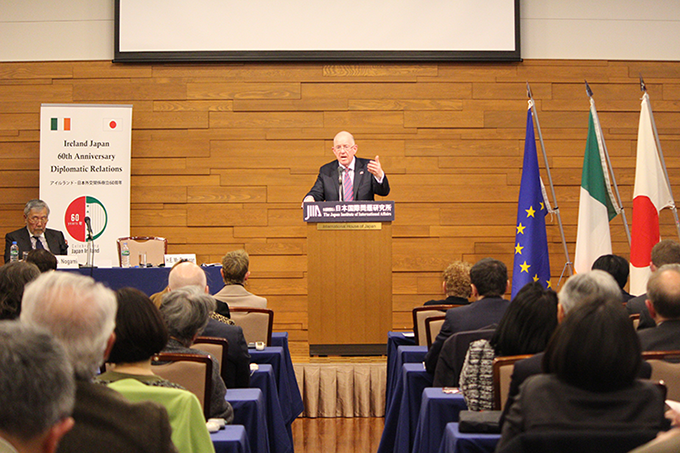 Minister Flanagan delivers lecture at the Japan Institute of International Affairs