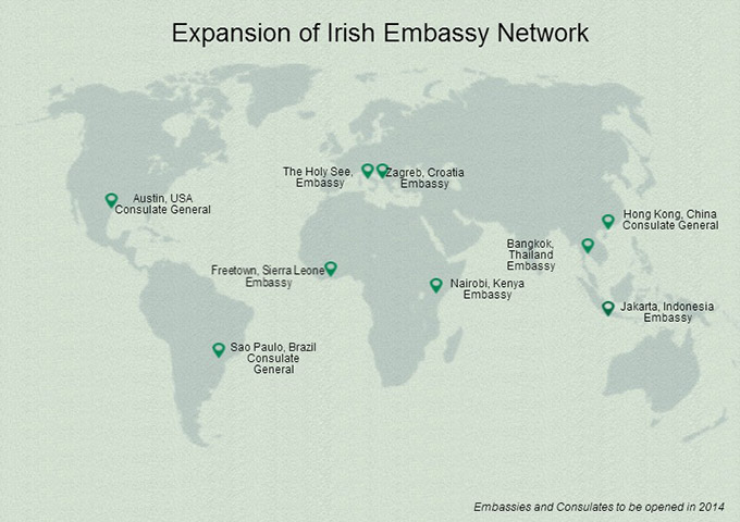 Map of new embassies and consulates announced across the globe