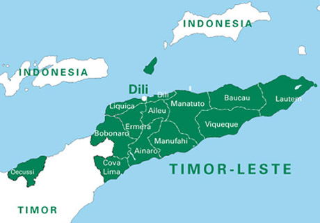 Map of Timor-Leste
