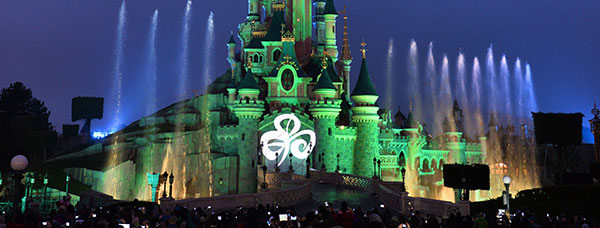 Sleeping Beauty's Castle At Disneyland Paris joins Global Greening