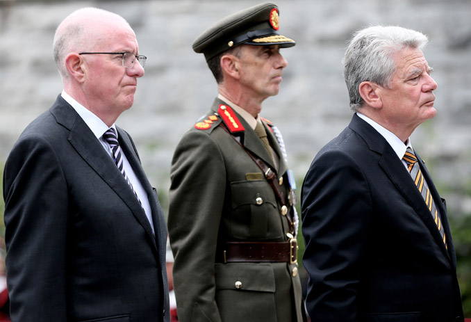 President Joachim Gauck and Minister Charlie Flanagan