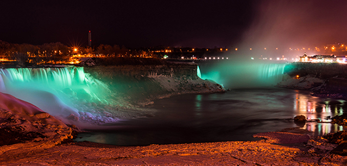 Niagara Falls, Tourism Ireland's Global Greening St Patricks Day, 2014