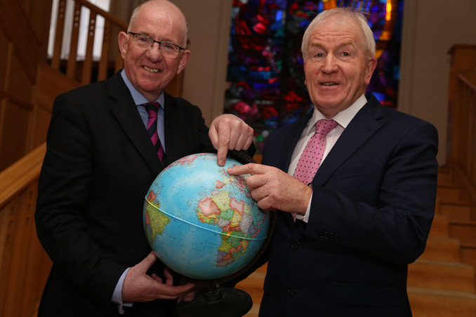 Minister Charlie Flanagan and Minister Jimmy Deenihan at the launch of Global Irish: Ireland's Diaspora Policy.