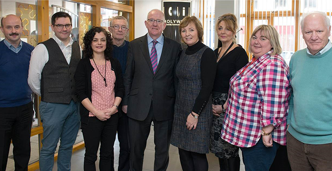 Minister for Foreign Affairs and Trade, Charlie Flanagan T.D., visited Holywell Centre Derry