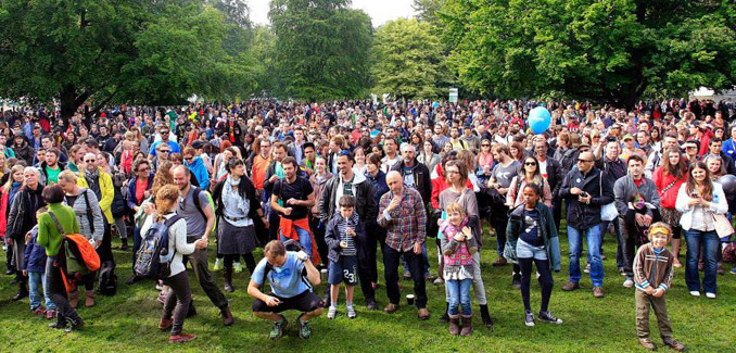 2014 Africa Day crowd shot Farmleigh House Dublin