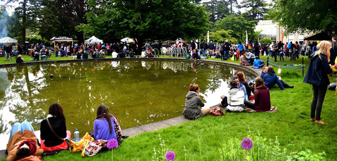 2014 Africa Day - pond, Farmleigh Estate, Dublin