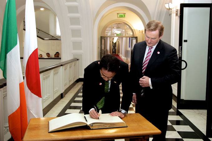Minister Kishida paid a courtesy call on the Taoiseach
