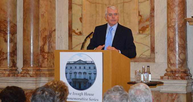 John Major speaking at 20th Anniversary of the Downing Street Declaration
