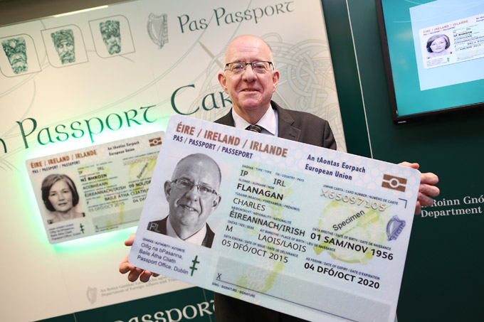 Minister Flanagan at the launch of the Passport Card in October 2015