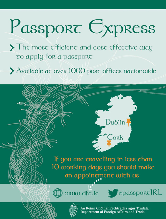 Getting your Irish Passport Infographic