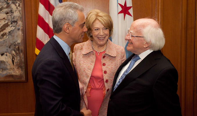Visit to Chicago, Illinois & Bloomington, Indiana, USA by The President of Ireland and Sabina Higgins.