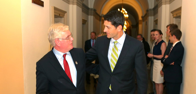 Eamon Gilmore at the US Capitol with Paul Ryan - Copyright 2014 by Marty Katz - 