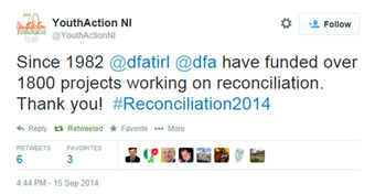 Youth Action NI tweet