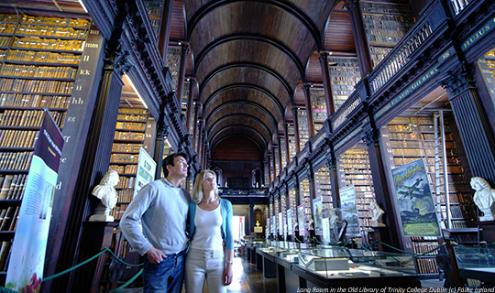 Long-Room-Old-Library-Trinity-College-Dublin (c) Failte Ireland