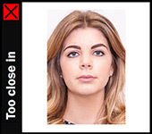 Passport Online Example Photo Too Close In
