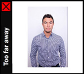 Passport Online Example Photo - Too Far Away