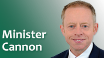 Minister of State for the Diaspora and International Development Ciarán Cannon T.D.