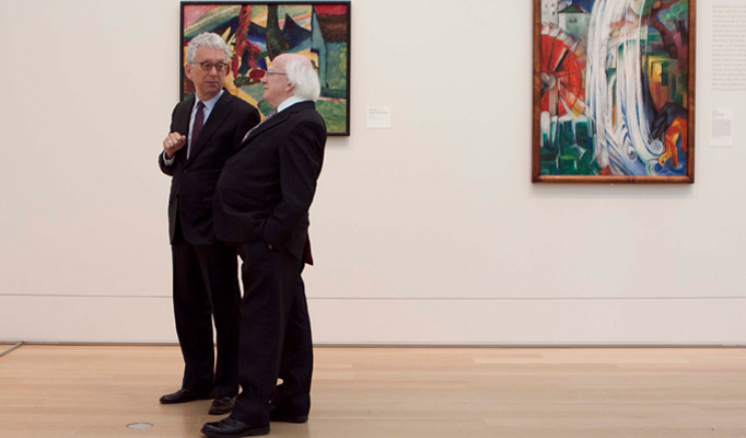 Pictured at the Chicago Art Institute are Douglas Druick, Director & President, Chicago Art Institute and President Higgins.