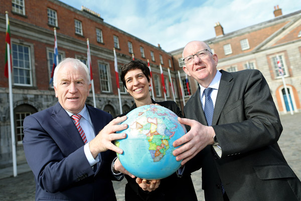 Minister for the Diaspora, Jimmy Deenihan, Jennie McShannon, Irish in Britain and Minister for Foreign Affairs and Trade, Charlie Flanagan.