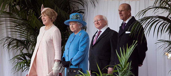 President and Sabina Higgins, HRH The Prince of Wales and The Duchess of Cornwall at Windsor Castle