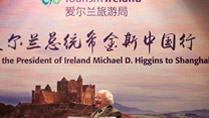 President Higgins is pictured at a Tourism Ireland Event, the Four Seasons Hotel, Shanghai.Picture by Shane O'Neill / Fennell Photography 2014.
