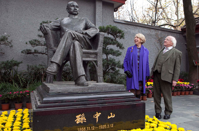 President Higgins and Sabina Higgins are pictured at the former residence of Sun Yat sen, Shanghai.Picture by Shane O'Neill / Fennell Photography 2014.