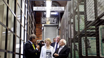 Pictured is President Michael D Higgins and his wife Sabina with Christopher Till, Director of the Apartheid Museum in Johannesburg, South Africa on the fourteenth day of the Presidents 22 day official visit to Ethiopia, Malawi and South Africa.Photo Chris Bellew / Fennell Photography 2014