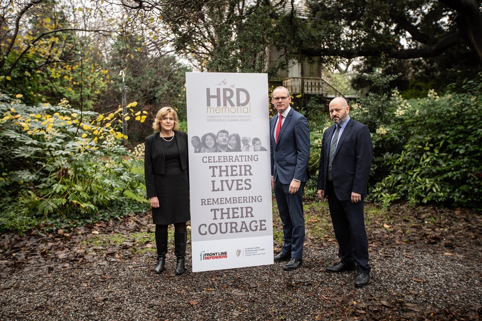 Tánaiste announces Memorial to Human Rights Defenders
