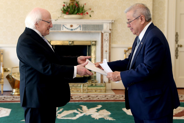 H.E.-Mr.-Antonio-Manuel-R.-Lagdameo-Ambassador-of-the-Republic-of-the-Philippines-presenting-his-letter-of-credence-to-the-President