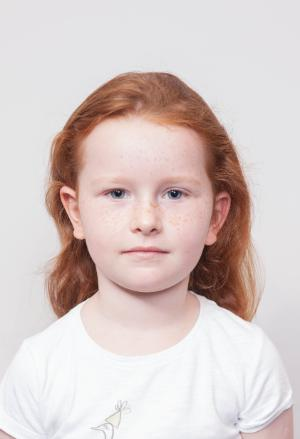Example of Acceptable Child Passport Photograph - Background